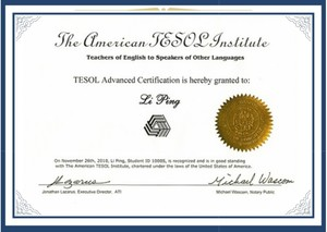 TESOL for Advanced Program