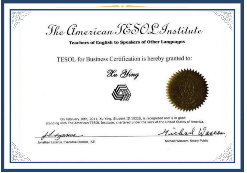 TESOL for Business Program