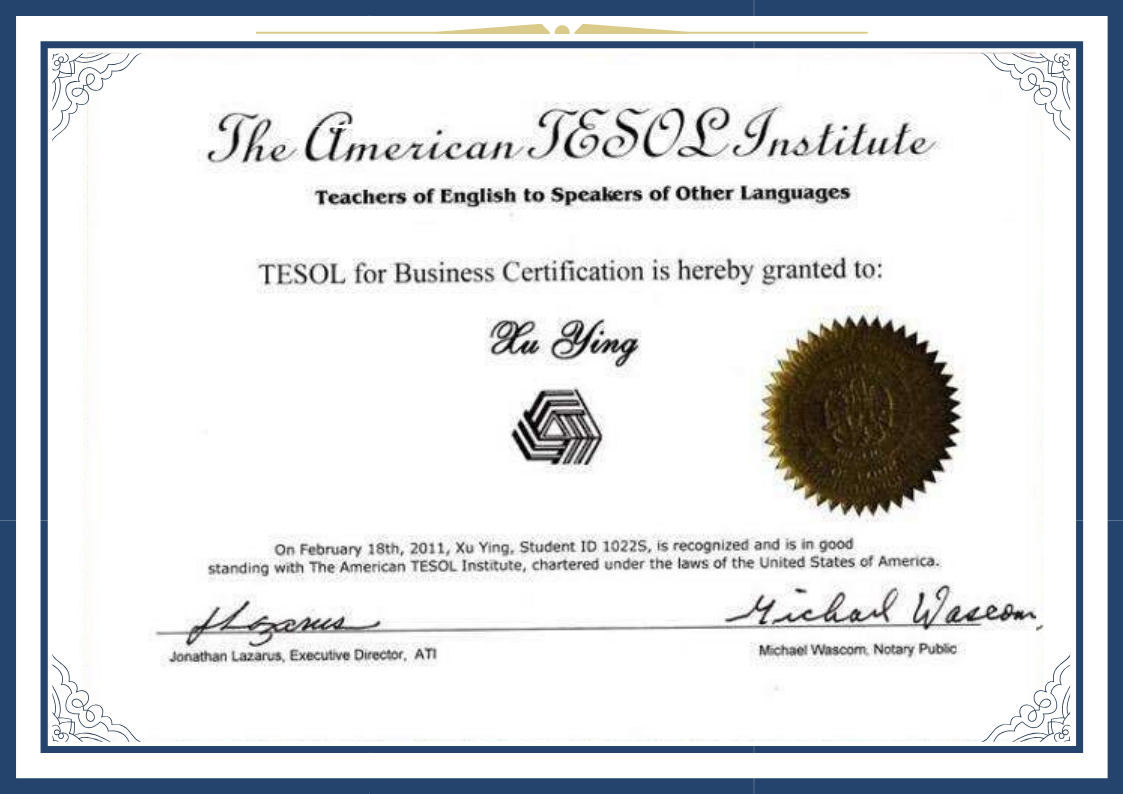 TESOL国际商务英语教师资格证-TESOLfor Business Certification Program