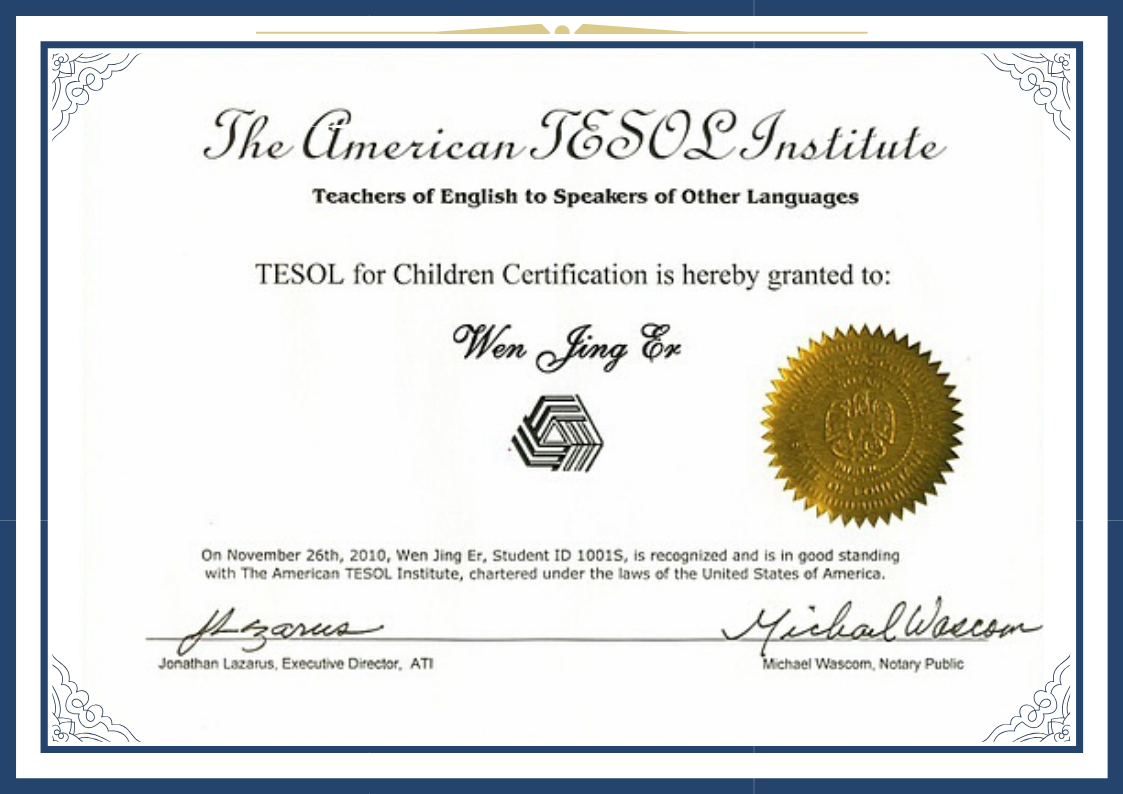 TESOL国际少儿英语教师资格证- TESOL for Children Certification Program