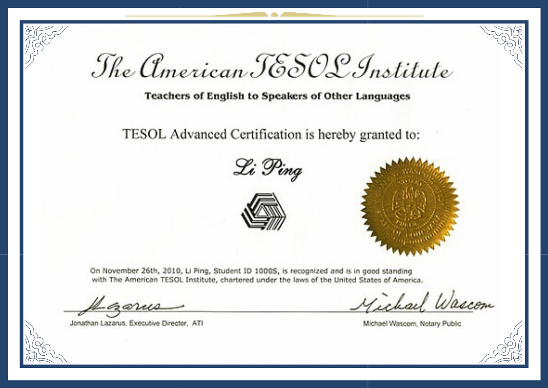 TESOL国际高级英语教师资格证-TESOL Advanced Certification Program